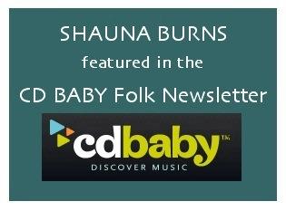Shauna Burns in CD Baby Newsletter